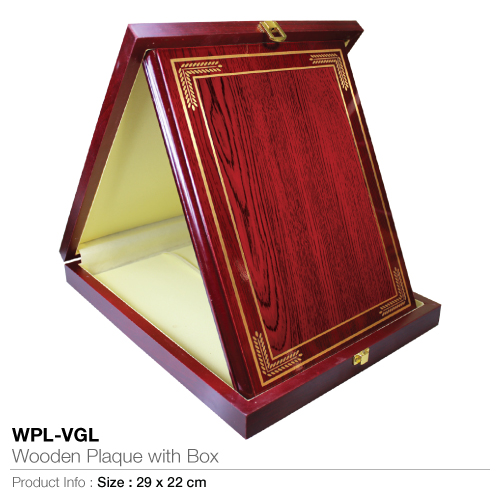 Wooden-Plaque with Box WPL-VGL