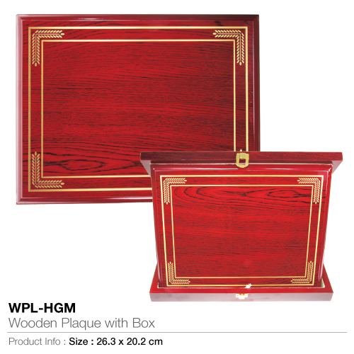 Wooden-plaque with box wpl-hgm