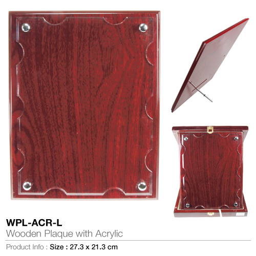 Wooden-plaque with acrylic wpl-acr-l