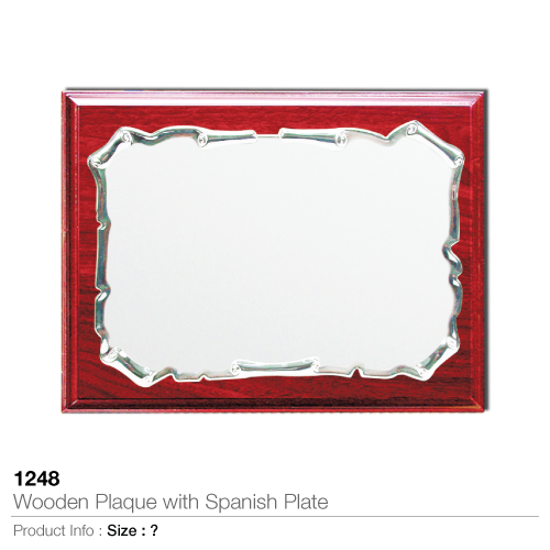 Wooden-plaque with spanish plate 1248