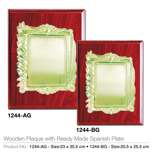Wooden Plaque with Ready Made Spanish Plate 1244-AG-BG_2