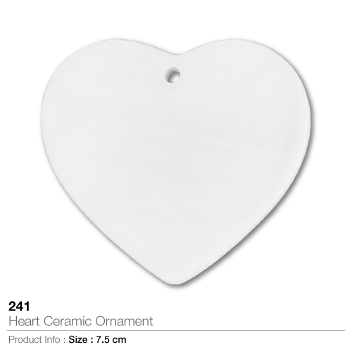 Heart ceramic ornament- 241