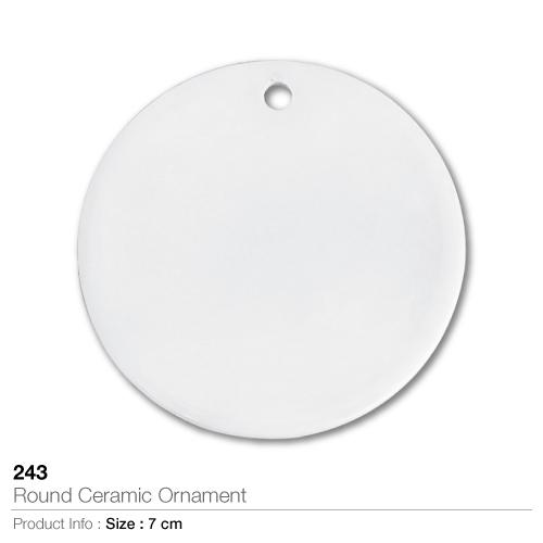 Round Ceramic Ornament- 243