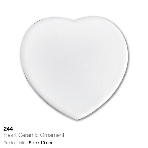 Heart ceramic ornament-244