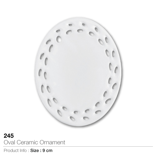 Oval ceramic ornament 245