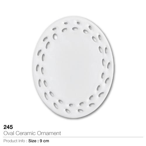 Oval Ceramic Ornament 245_2
