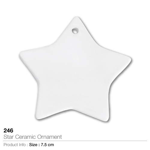 Star ceramic ornament 246