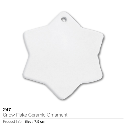 Snow flake ceramic ornament- 247