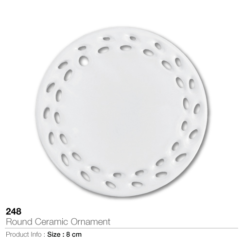 Round ceramic ornament- 248