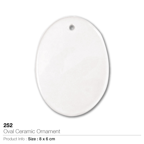Oval ceramic ornament- 252