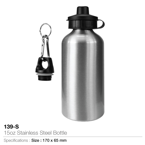 15oz stainless steel bottle- 139-s