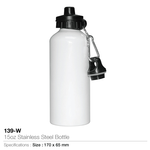 15oz stainless steel bottle- 139-w