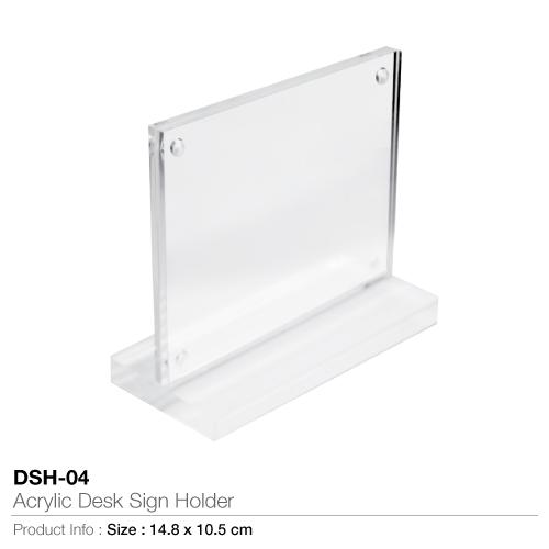 Acrylic desk sign holder- dsh-04
