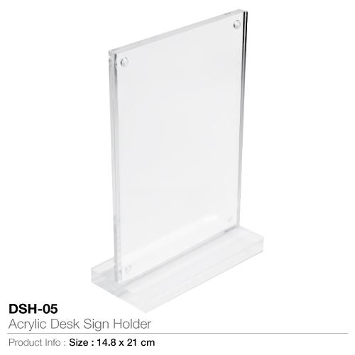 Acrylic desk sign holder-dsh-05