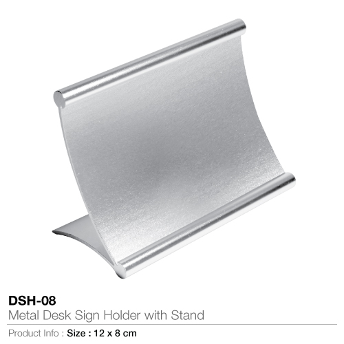 Metal desk sign holder with stand- dsh-08