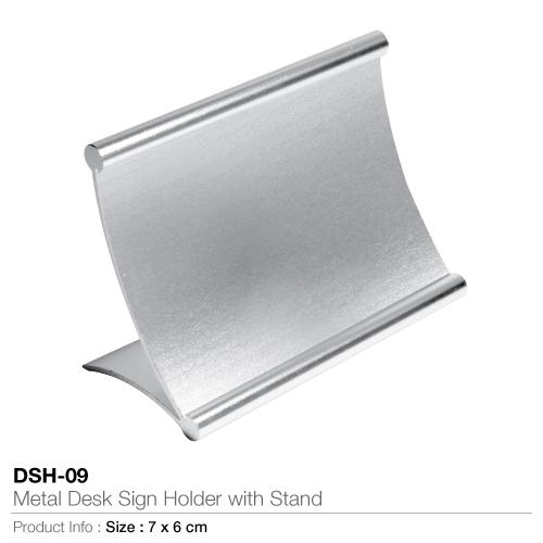 Metal desk sign holder- dsh-09