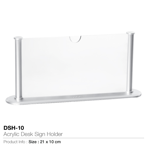 Acrylic desk sign holder- dsh-10