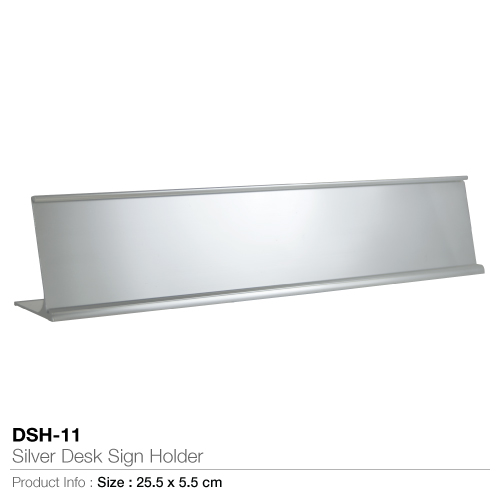 Silver desk sign holder- dsh-11