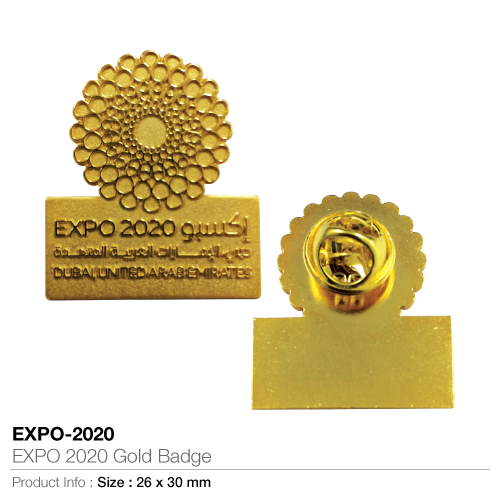 Expo 2020 gold badge