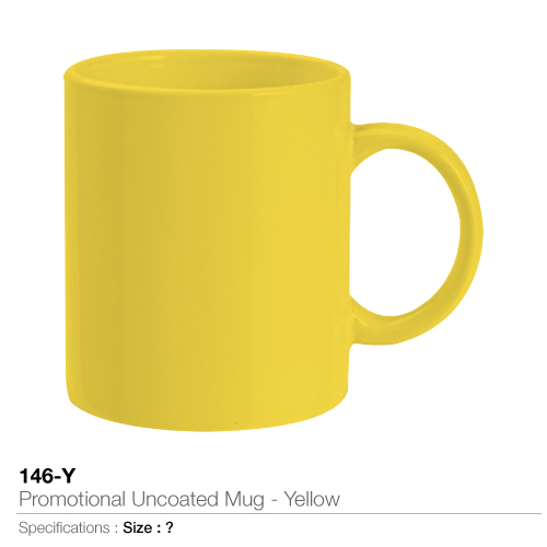 Promotional uncoated mug- yellow 146-y