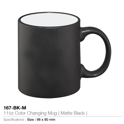 11oz color changing mug- matte black - 167-bk-m