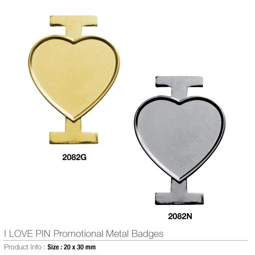 I love pin promotional metal badges