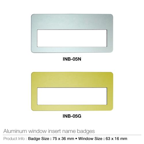 Aluminium insert name badges- inb-05