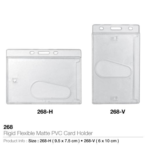 Rigid flexible matte pvc card holders- 268
