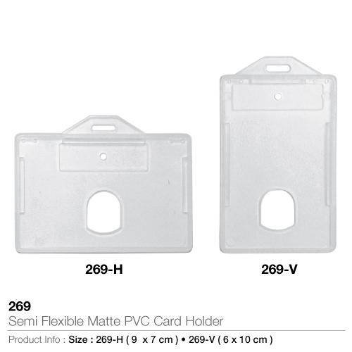 Semi Flexible Matte PVC Card Holder- 269_2