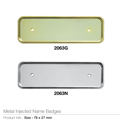 Metal injected name badges- 2063
