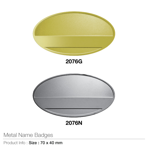 Metal name badges- 2076