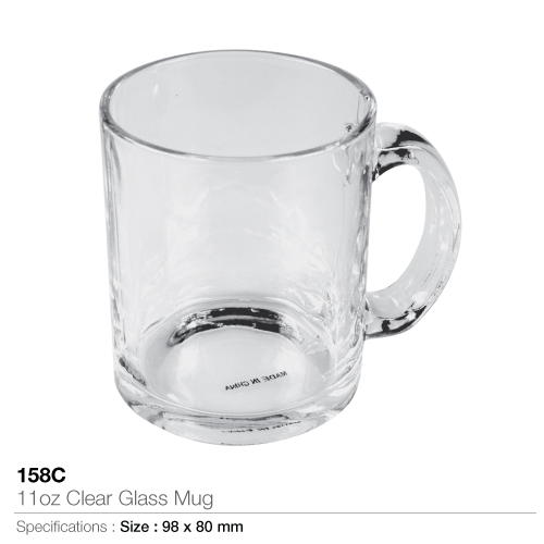 11oz Clear Glass Mug - 158C_2