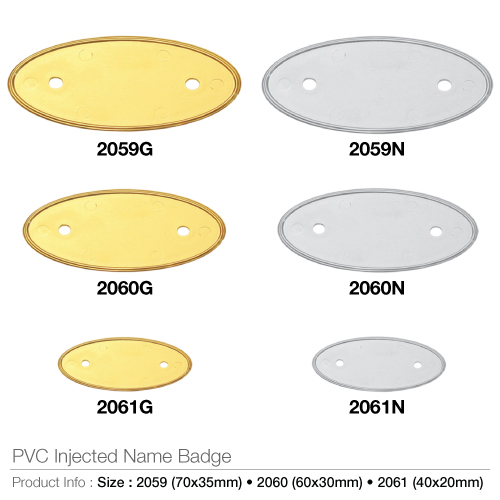 PVC Injected Name Badges Oval-  2061_2