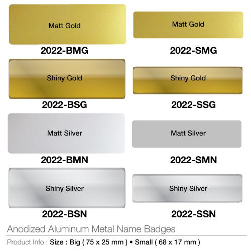 Anodized Aluminium Metal Name Badges- 2022_2
