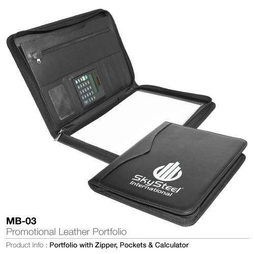 Promotional leather portfolio mb-03