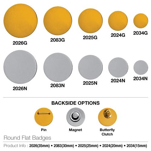 Round Flat Badges