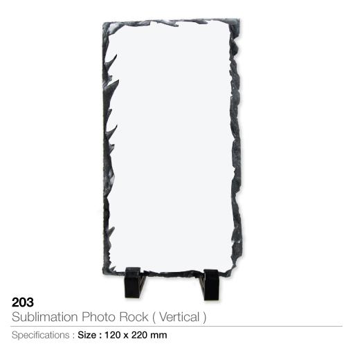 Sublimation photo rock- vertical - 203-v