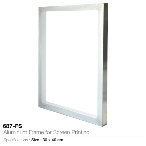 Aluminum frame for screen printing-  687-fs
