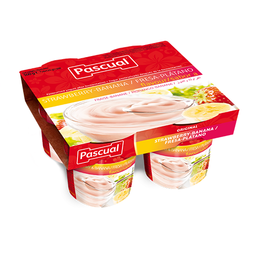 Pascual flavours strawberry-banana