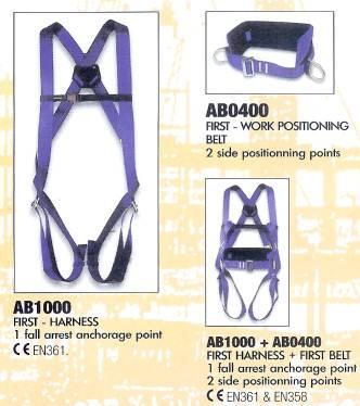 Ab1000 + ab0400 first harness & belt