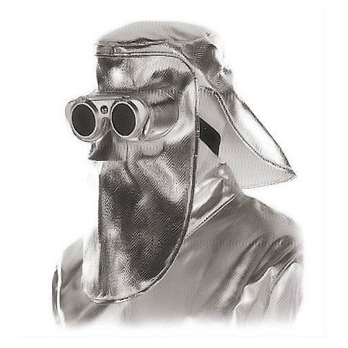 Jutec heat protection mask with flip glasses