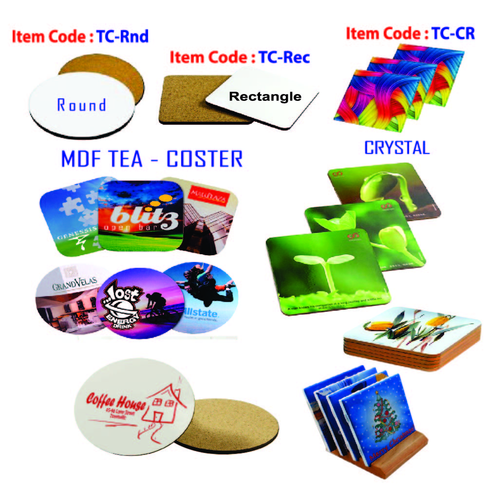 Sublimation tea coasters
